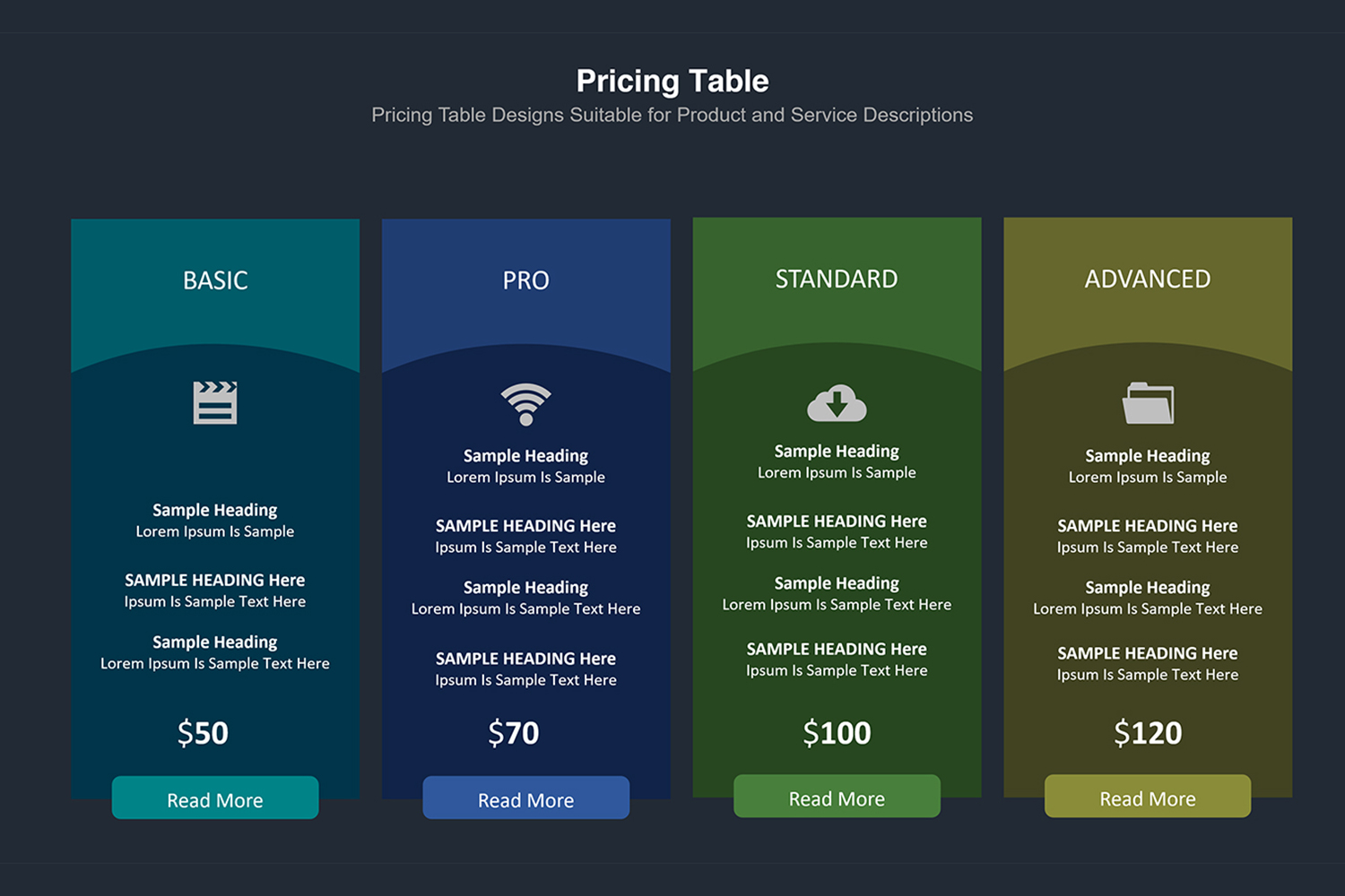 Price Table  Infographic Presentation example image 18