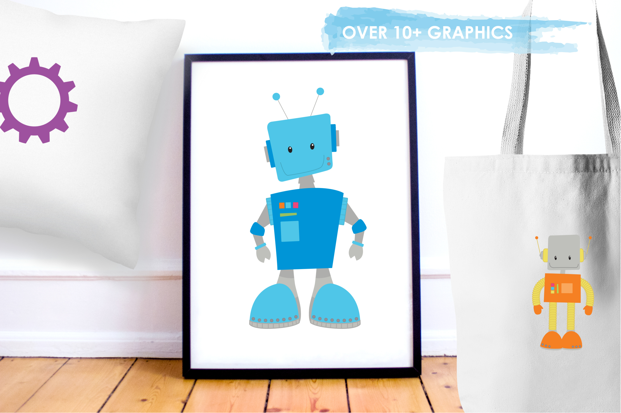 Mr. & Mrs. Roboto graphics and illustrations example image 5