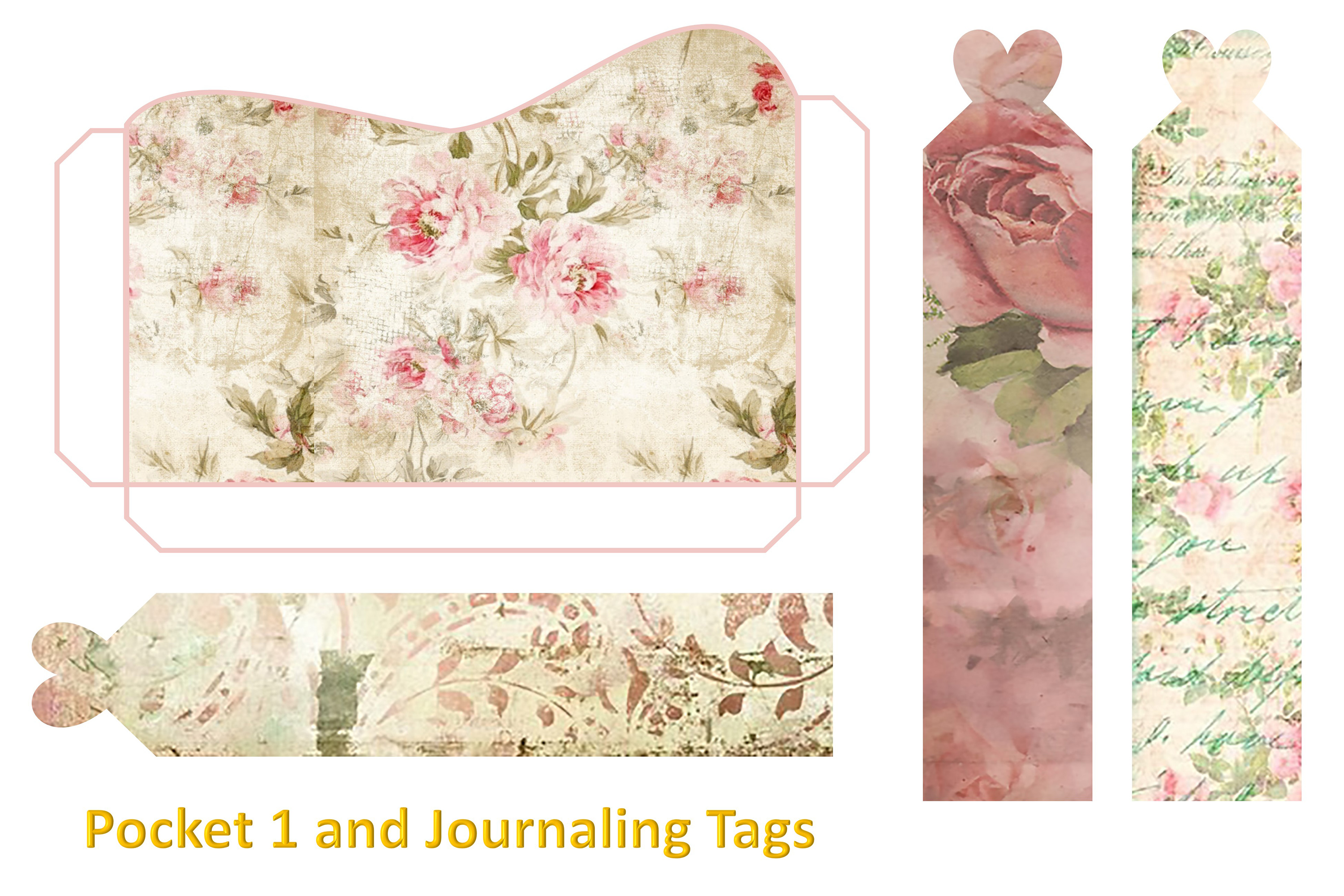 Shabby Chic Vintage backgrounds, Ephemera and Clipart Pmgs example image 7