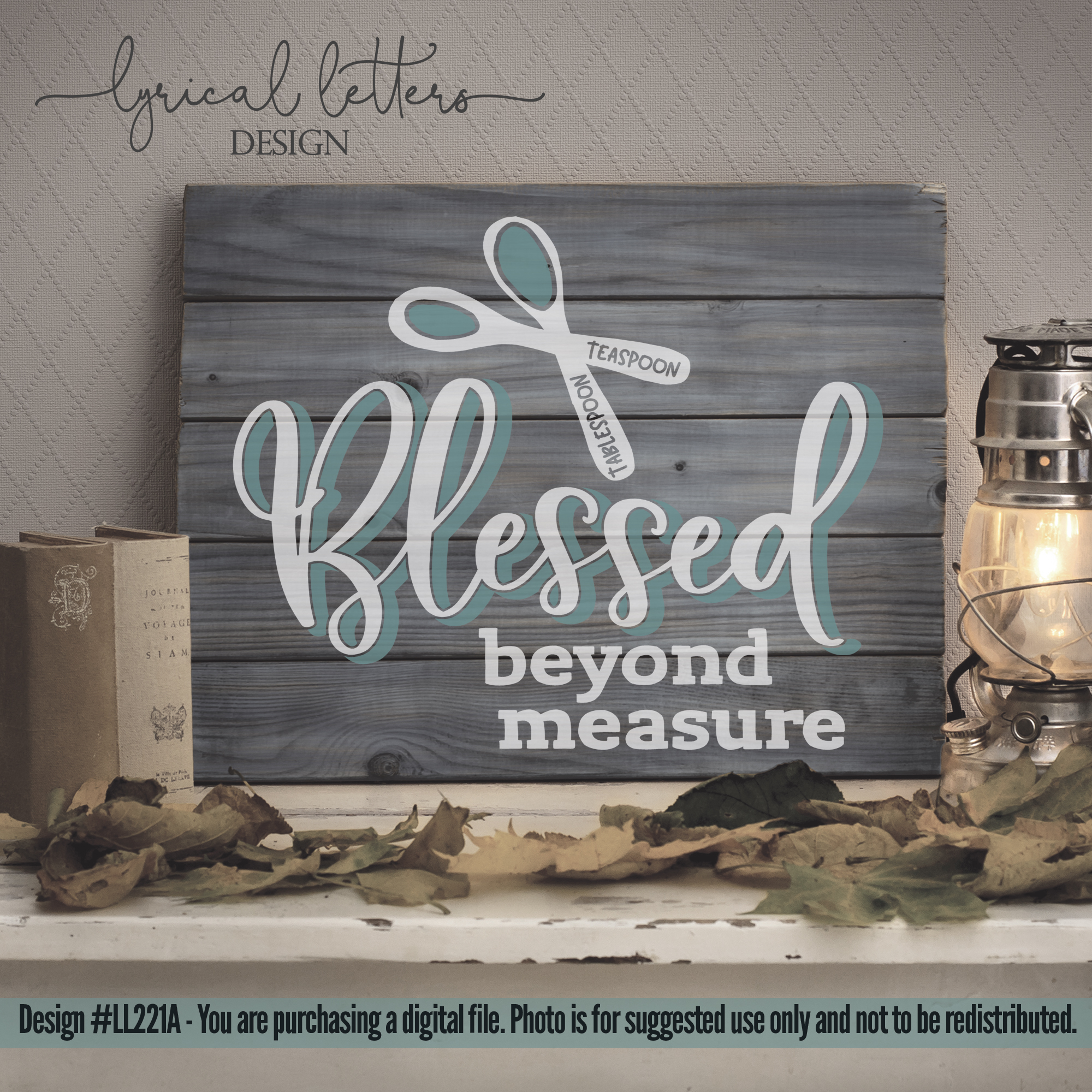 Blessed Beyond Measure Farmhouse SVG Cut File LL221A example image 2
