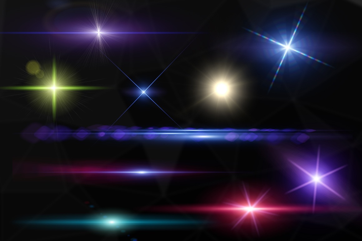10 Optical Lens Flares Pack 1 example image 2