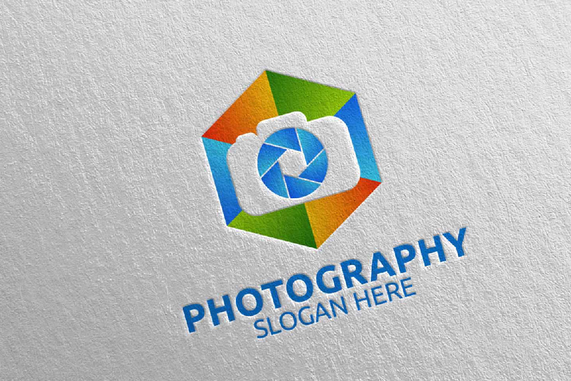 Abstract Camera Photography Logo 6 example image 2