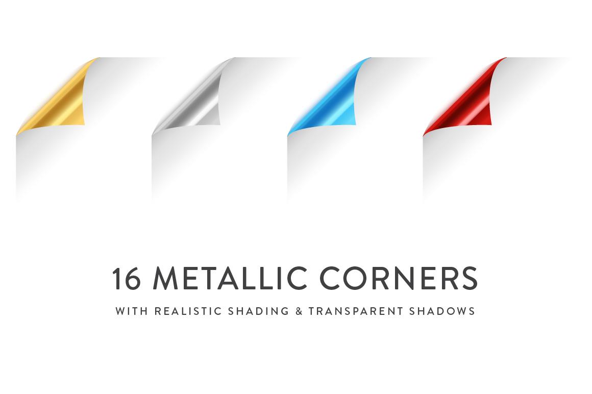 Curling Paper Corner Folds Set example image 5