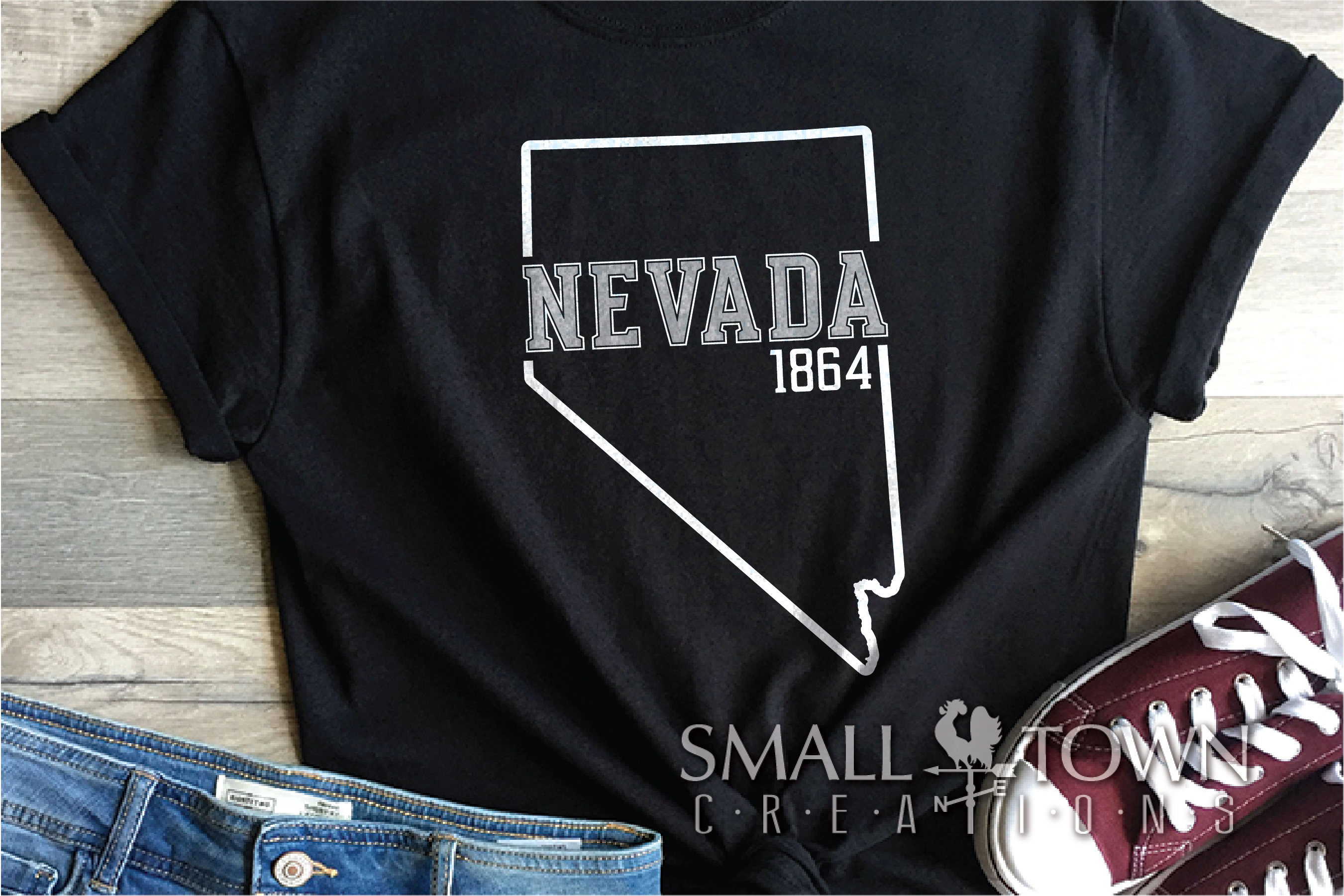 Nevada, The Silver State - slogan, Logo, PRINT, CUT & DESIGN example image 8