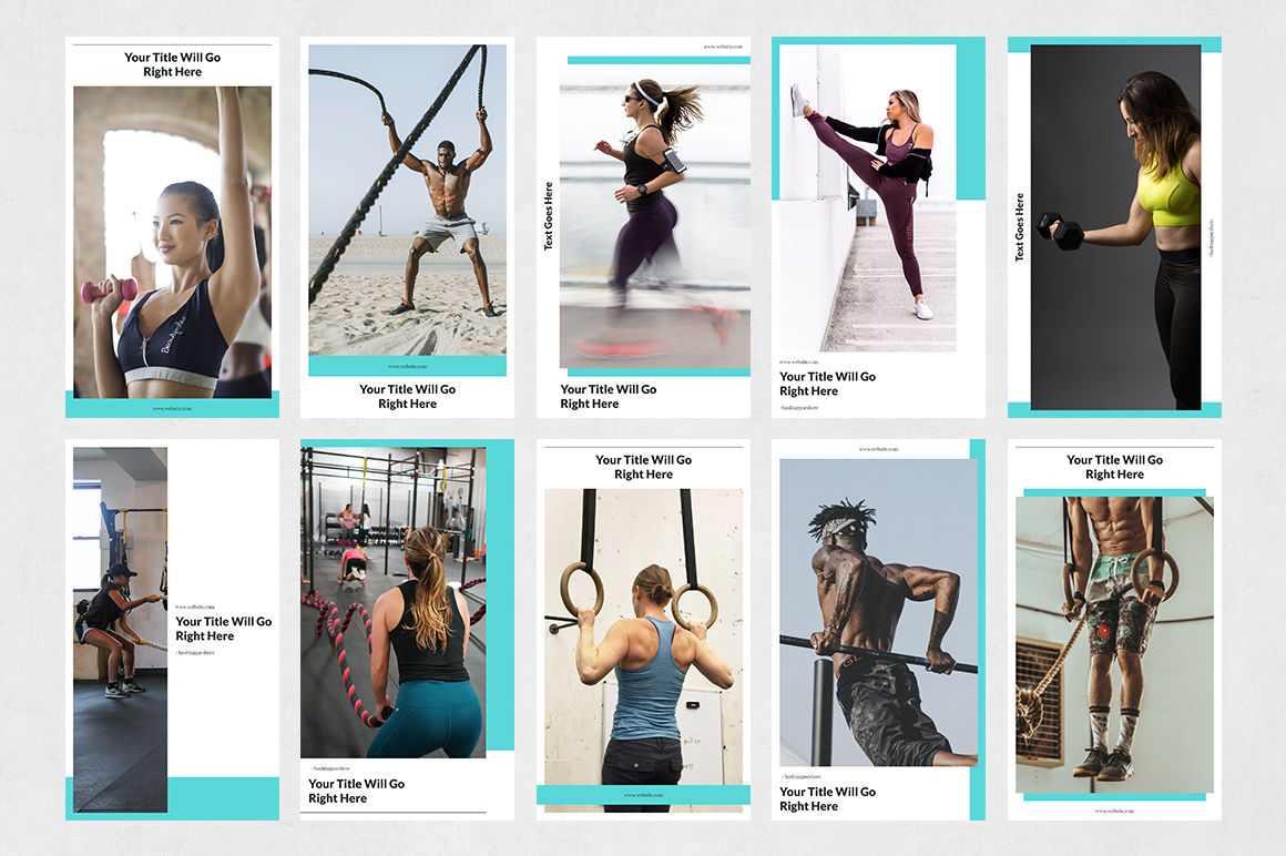 Fitness Animated Instagram Stories example image 8