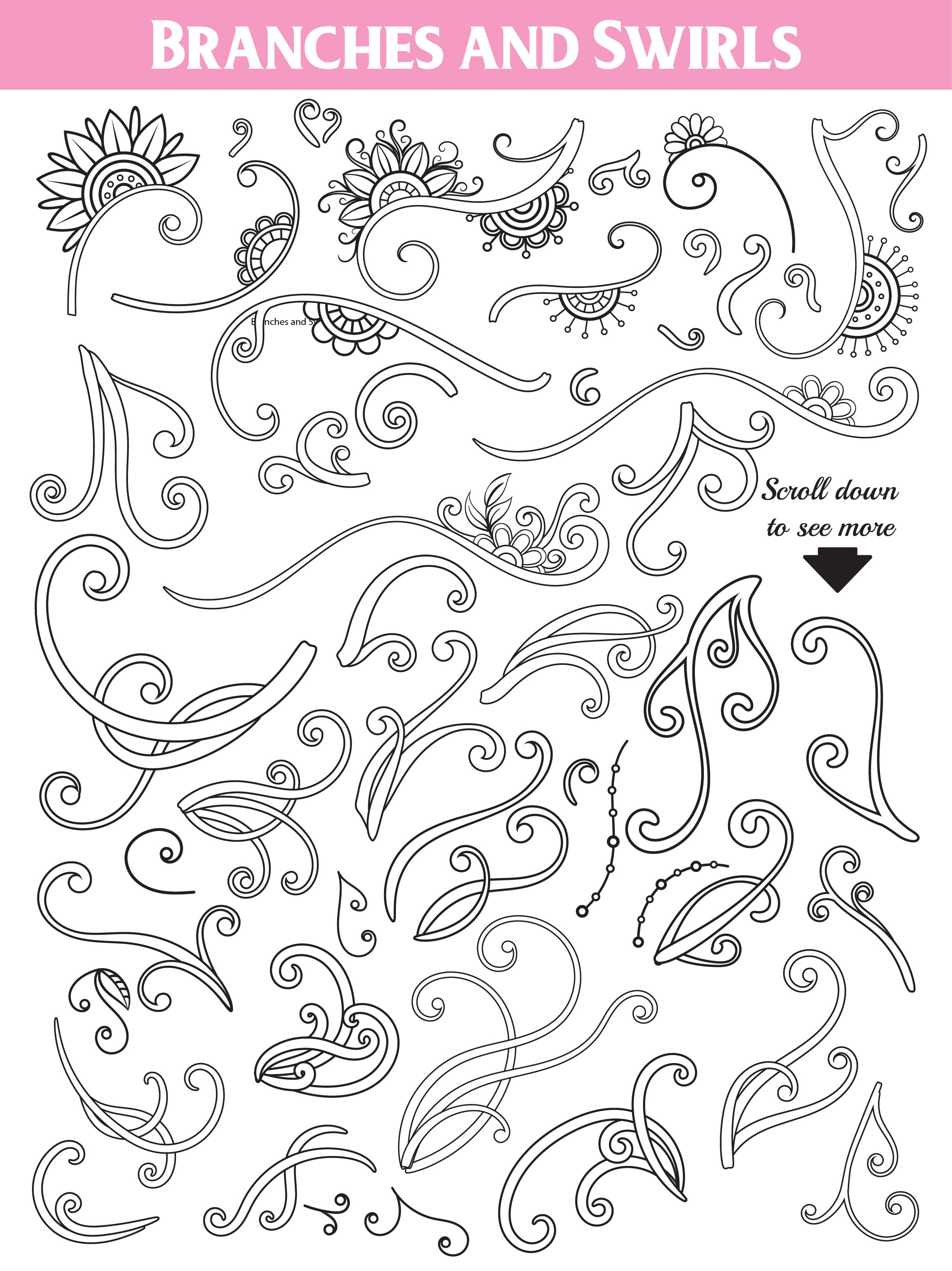 Floral Doodles Collection example image 8