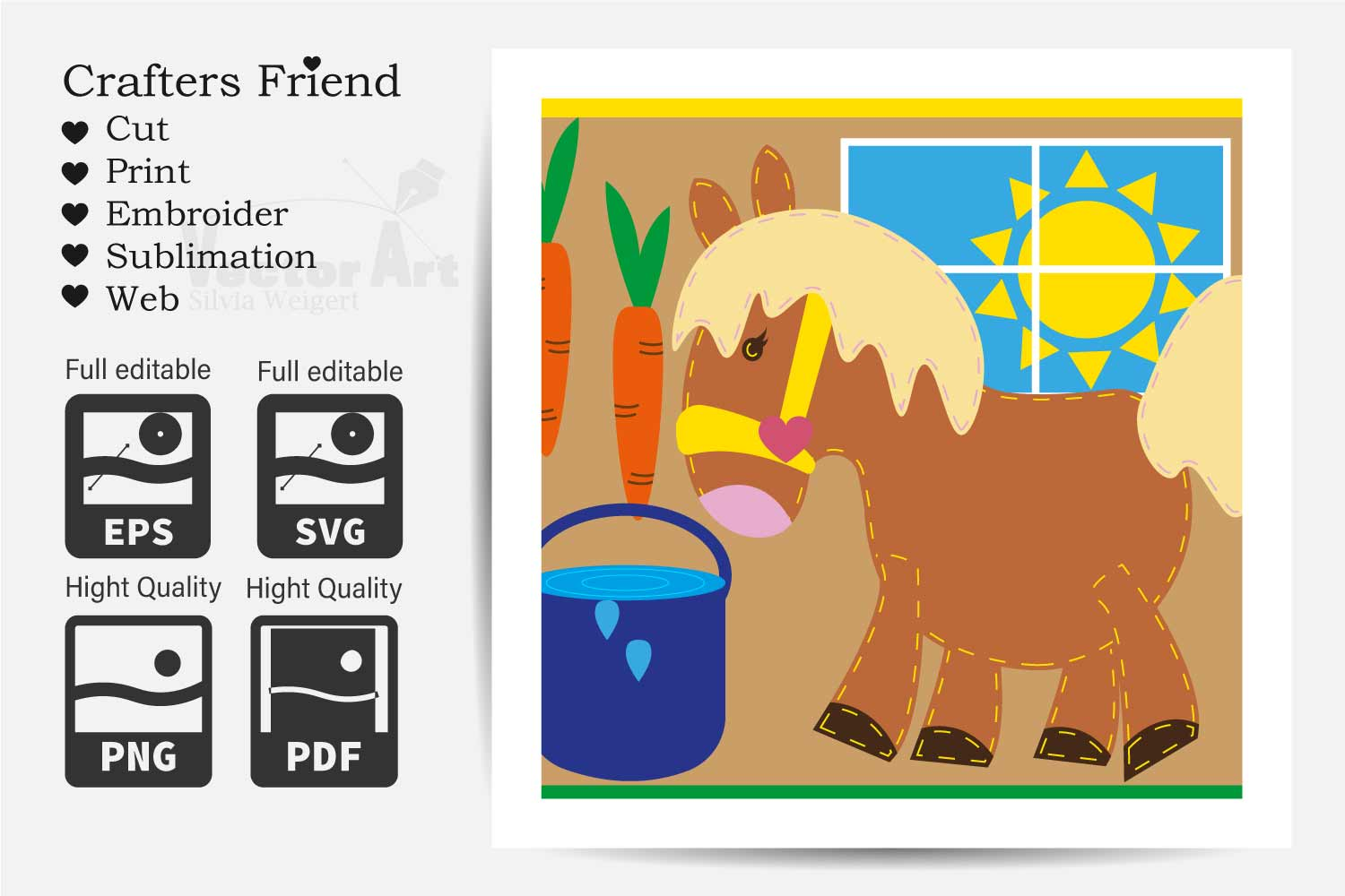 17x Pony Farm - Mini Bundle - Cut or Print for Crafter example image 3