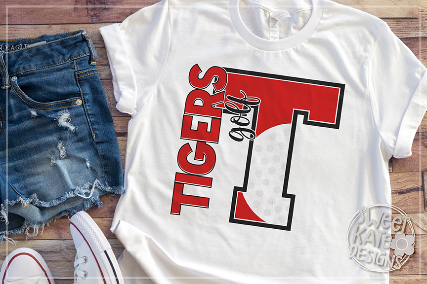 T Tigers Golf SVG DXF EPS PNG JPG example image 3