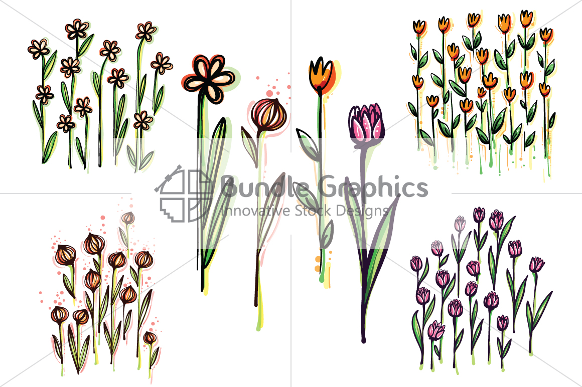 Vector Floral Pattern Pack example image 7