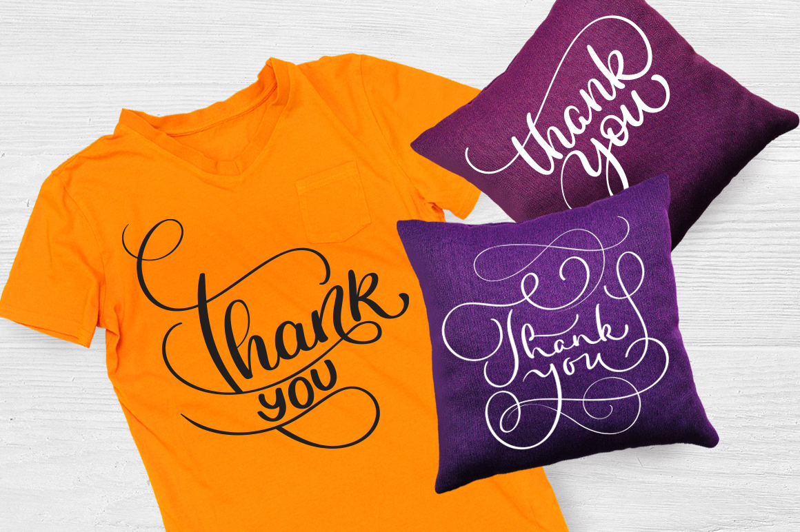 Thank You Calligraphy Lettering Collection example image 2