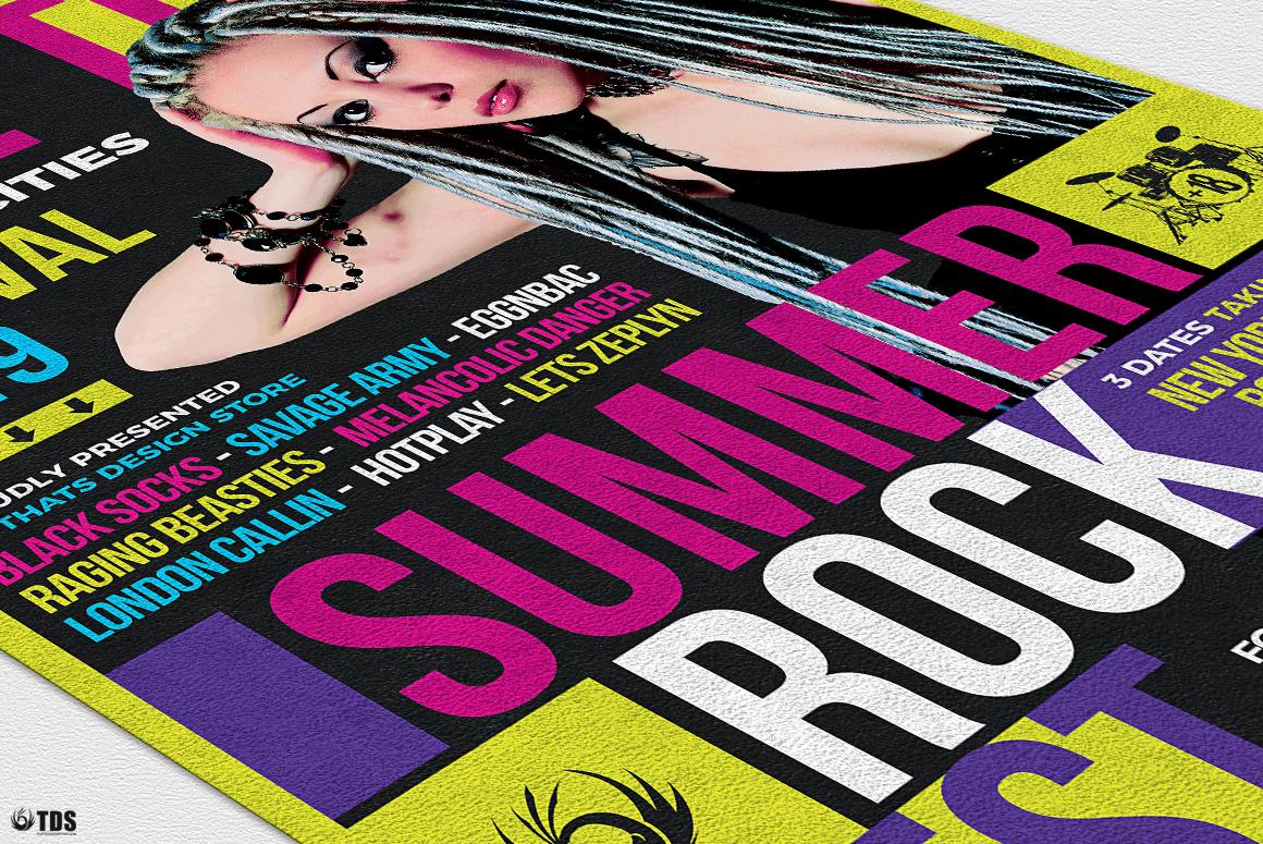 Summer Rockfest Flyer Template example image 6