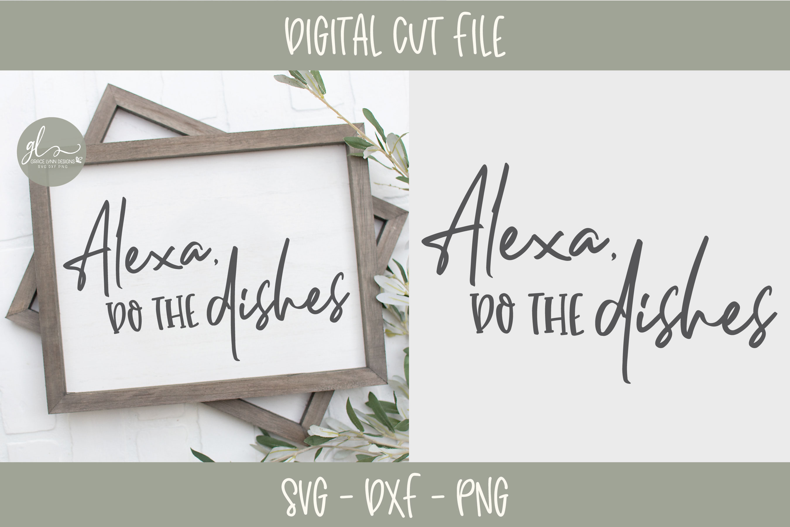 Alexa Do The Dishes - Kitchen SVG Cut File example image 1
