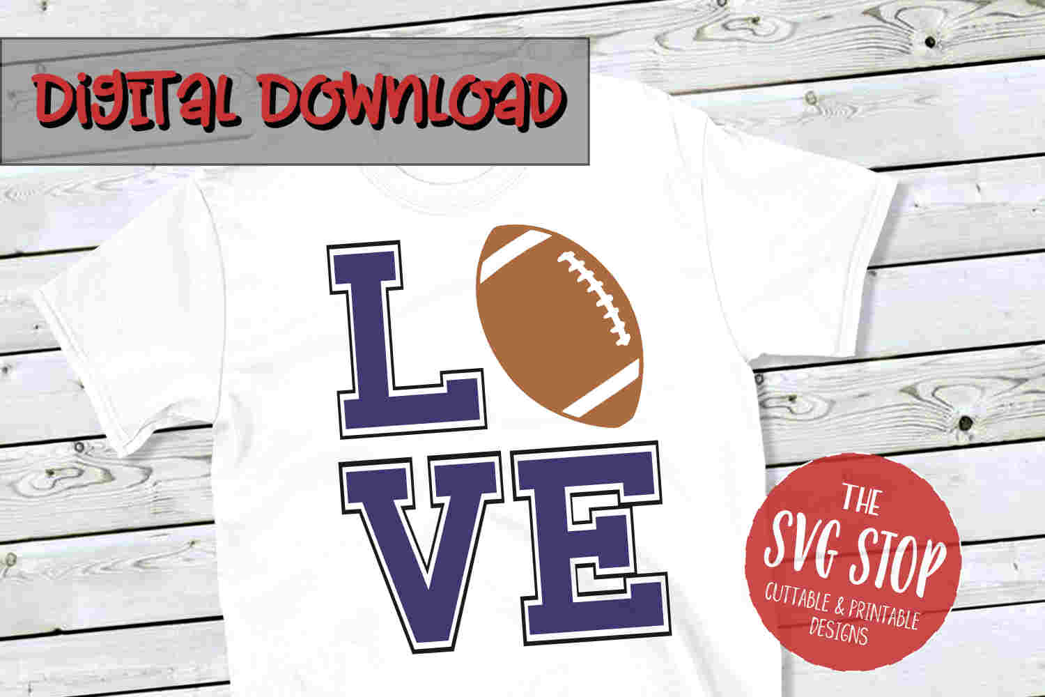 Love Football 4-SVG, PNG, DXF example image 1