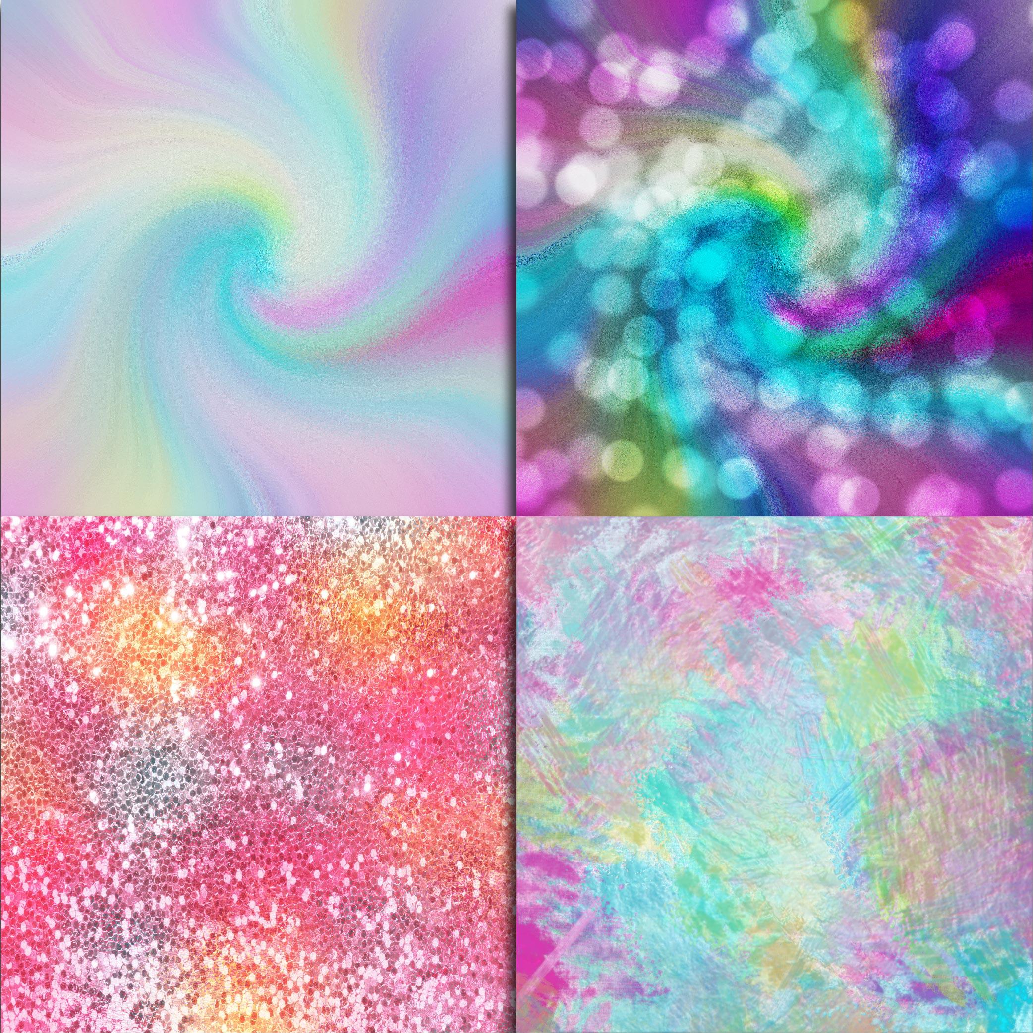Unicorn Textures Digital Paper example image 5
