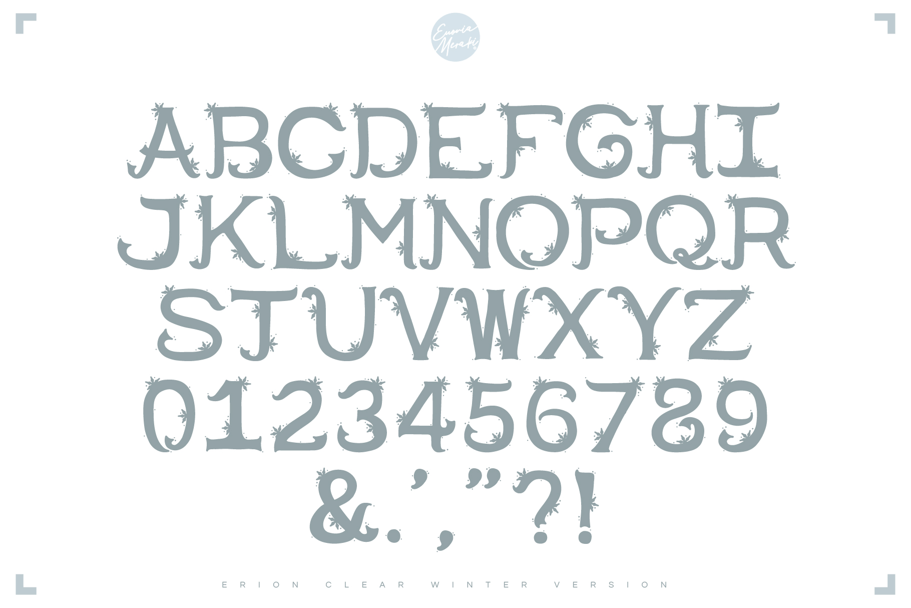 4in1 ERION FONT - Christmas Winter Version example image 5