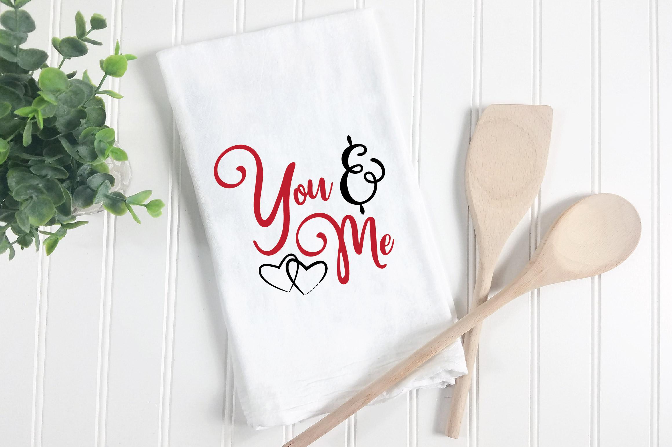 You & Me SVG Cut File - Valentine SVG EPS DXF PNG PDF AI example image 3