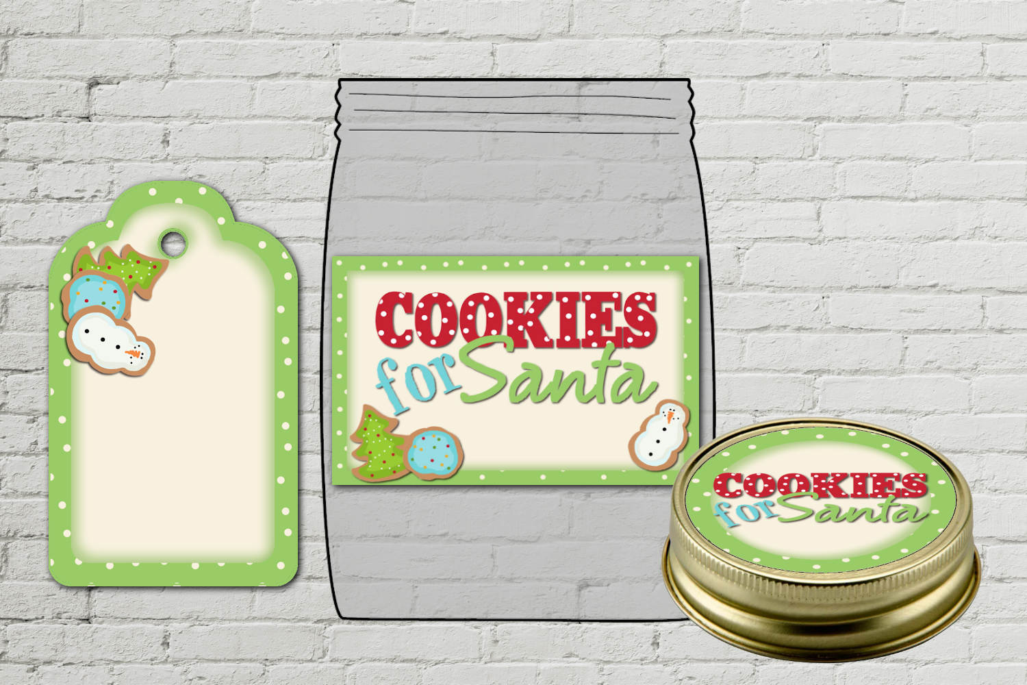 Cookies for Santa Jar Labels and Tag example image 2