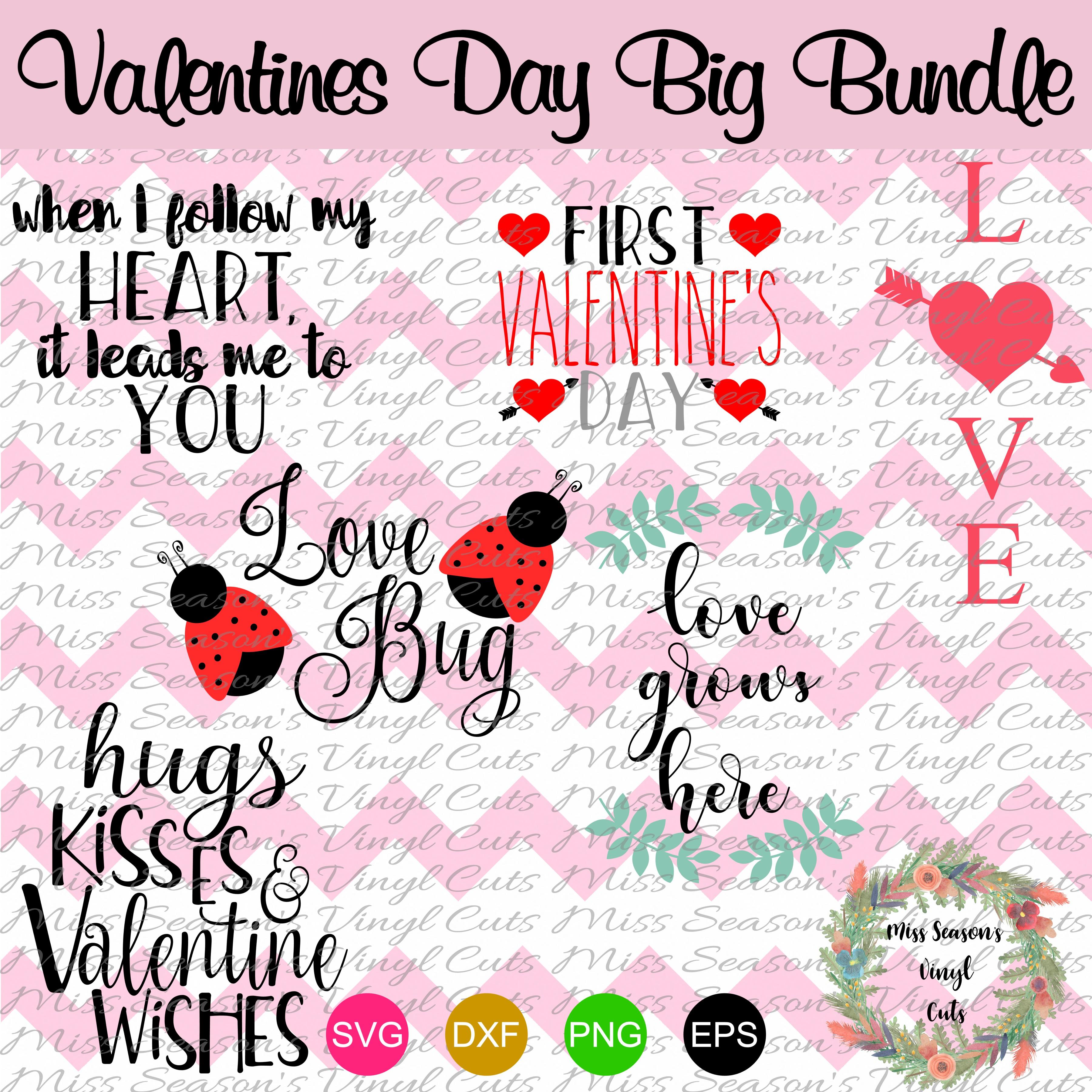 Huge Valentines Day Bundle SVG  example image 5