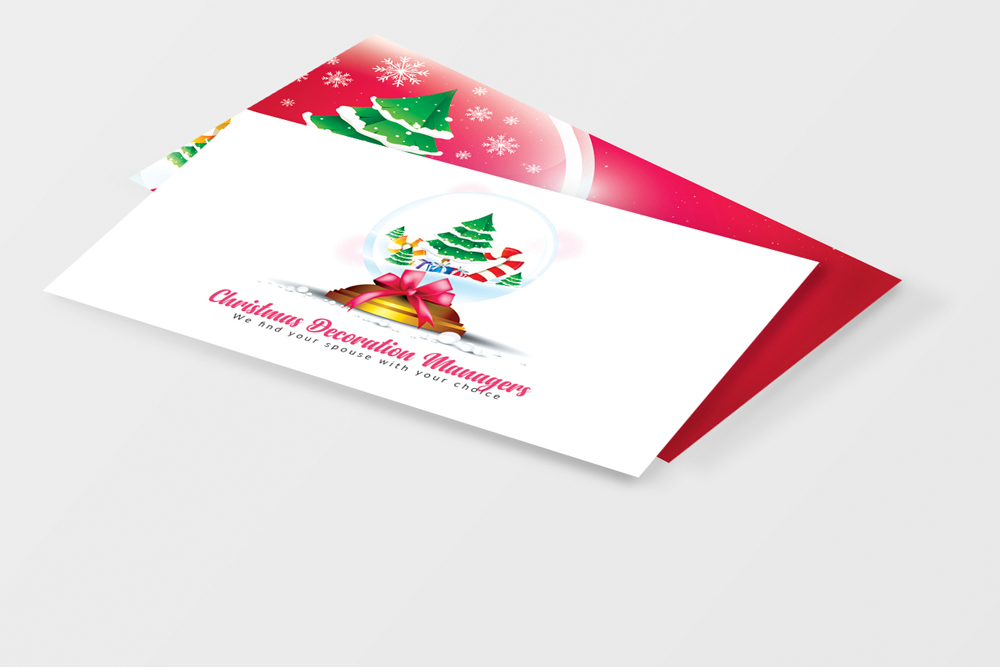 Christmas Decorator's Business Card example image 3