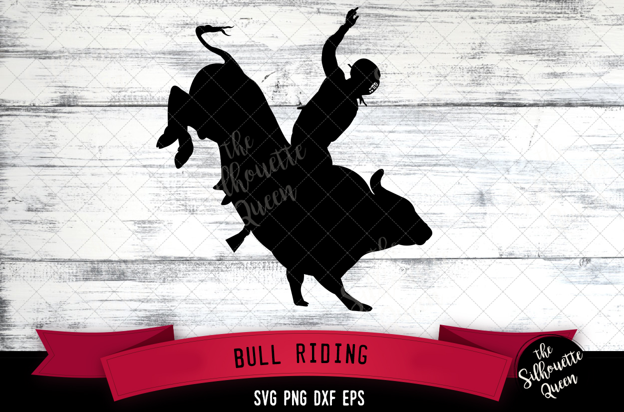 Bull Rididng svg file, rodeo cowboy western svg cut file example image 1