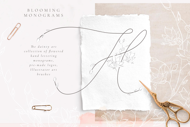 Tender Feeling Monograms, Logos example image 1