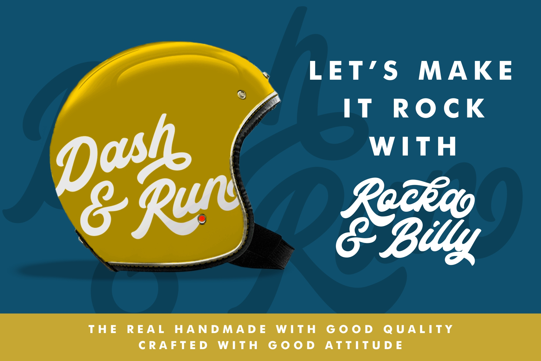 Rocka & Billy - Bold Script Font example image 10