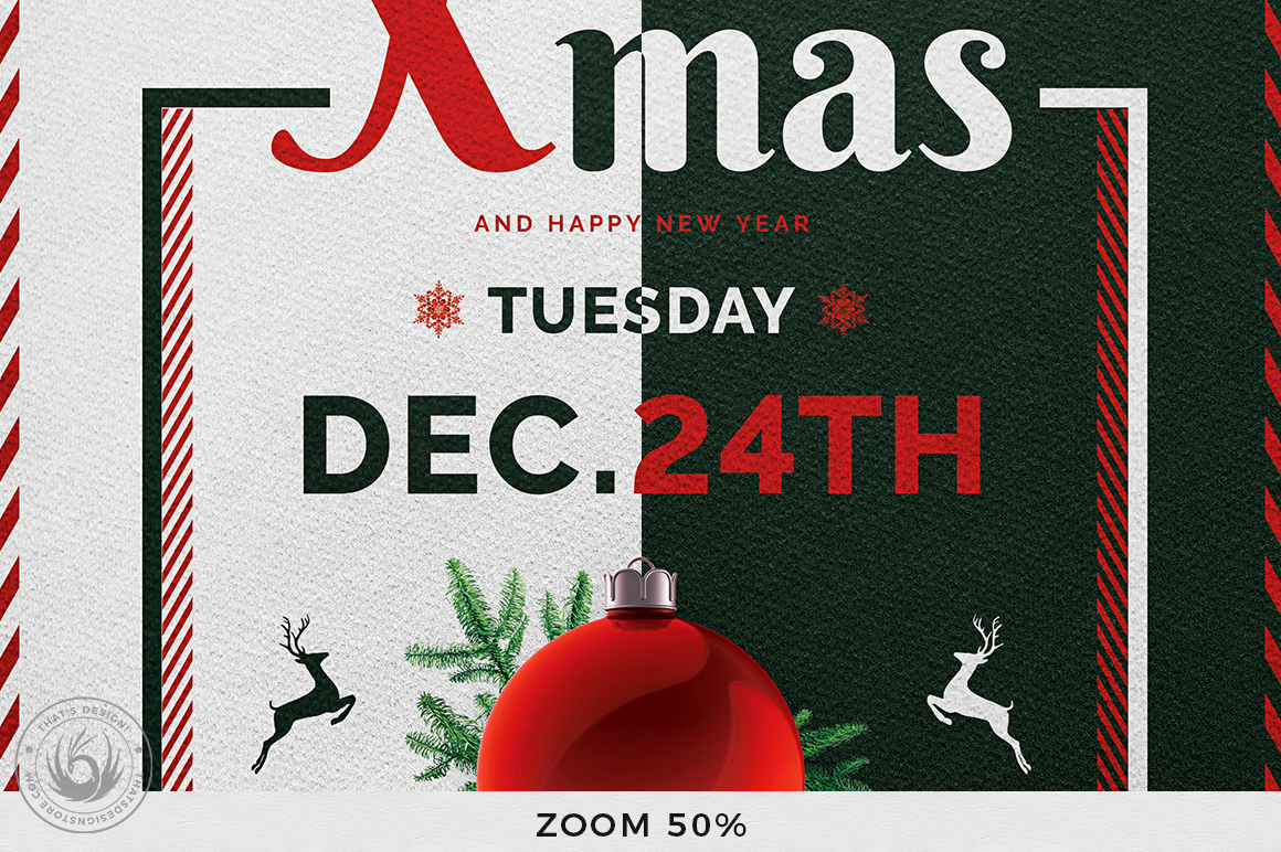 Christmas Eve Flyer Template V12 example image 7