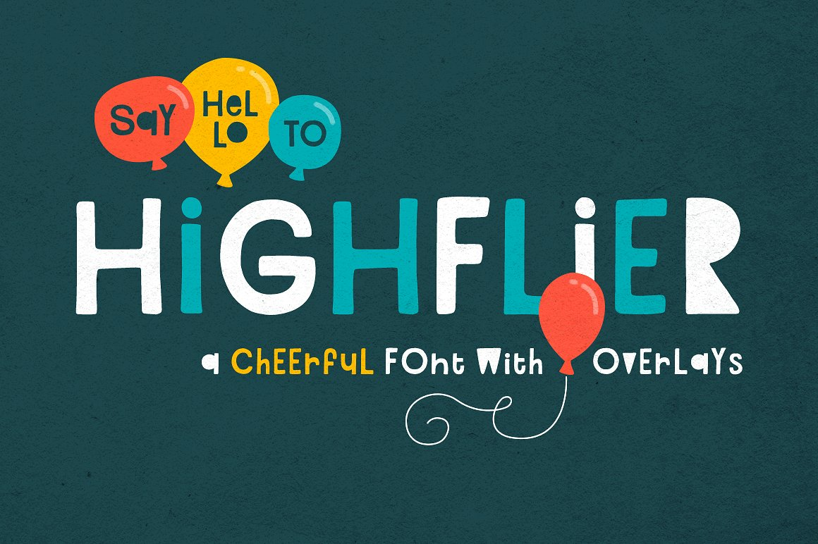 Highflier Font example image 1