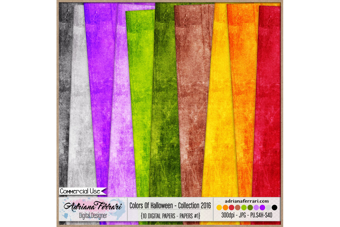 Colors Of Halloween - Collection 2016 - Paper 1 example image 1