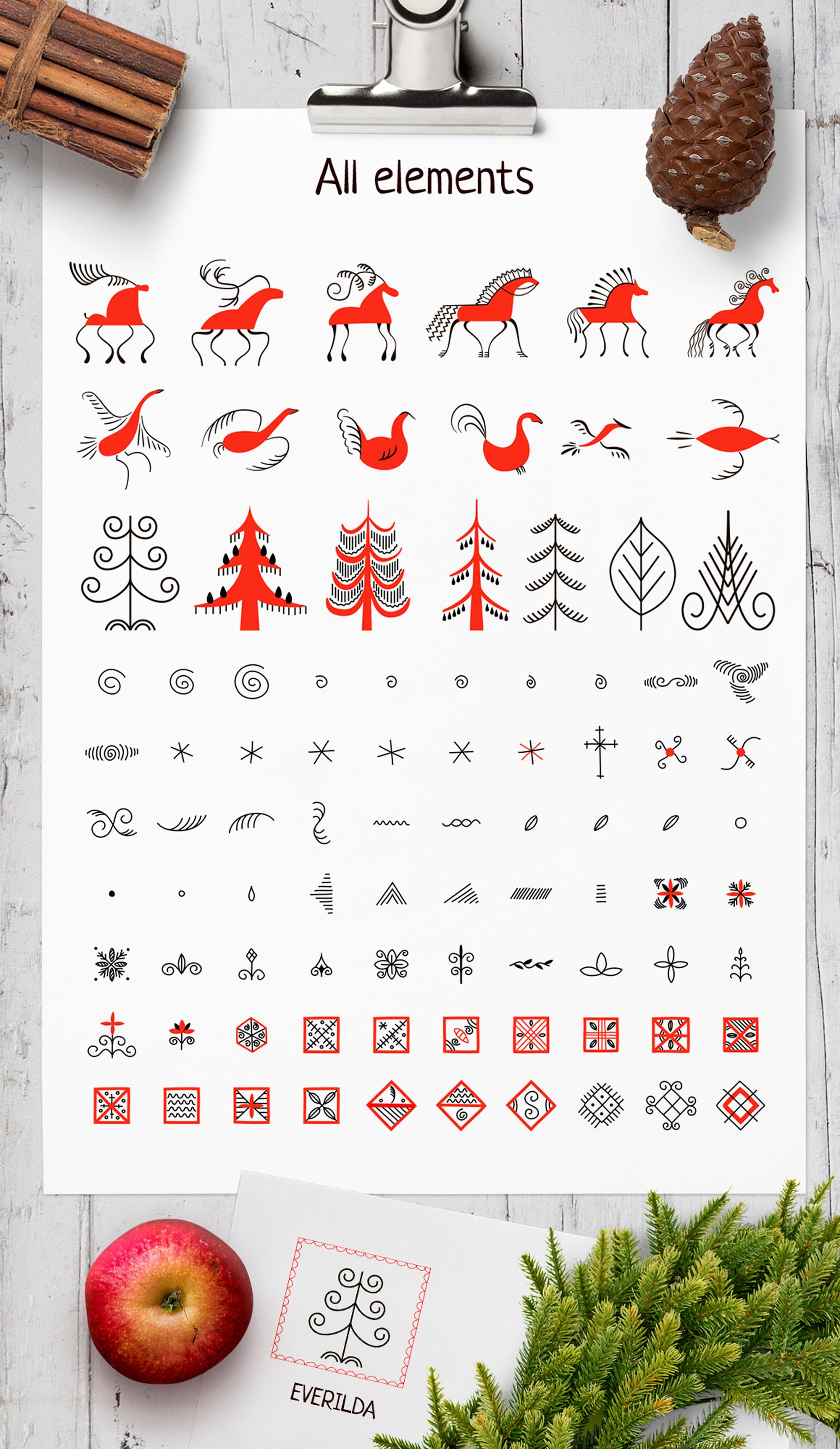 Slavic motives. Design kit. example image 5