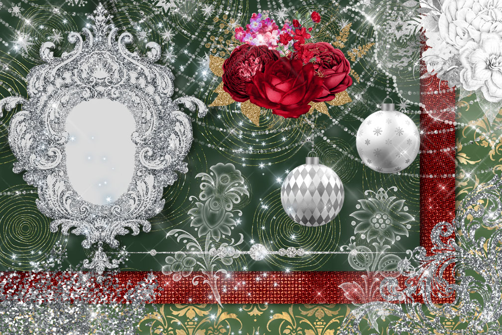 Christmas Sparkle Digital Scrapbooking Kit example image 3