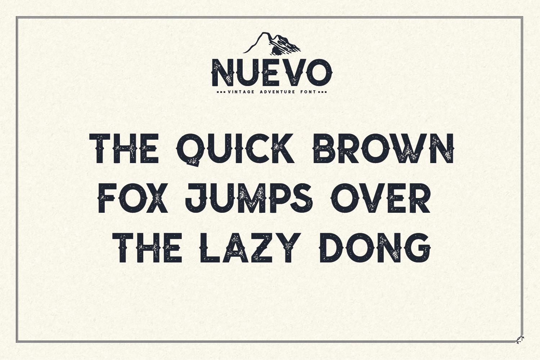 Nuevo - Vintage Adventure Font example image 3
