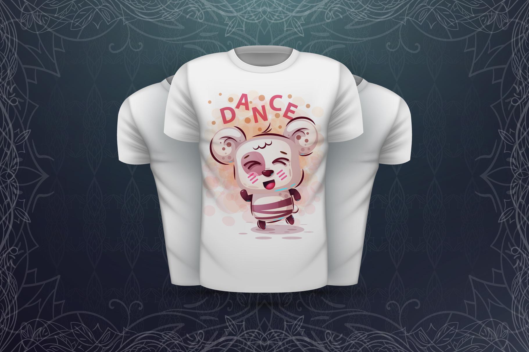 Set cute panda - for print t-shirt example image 4