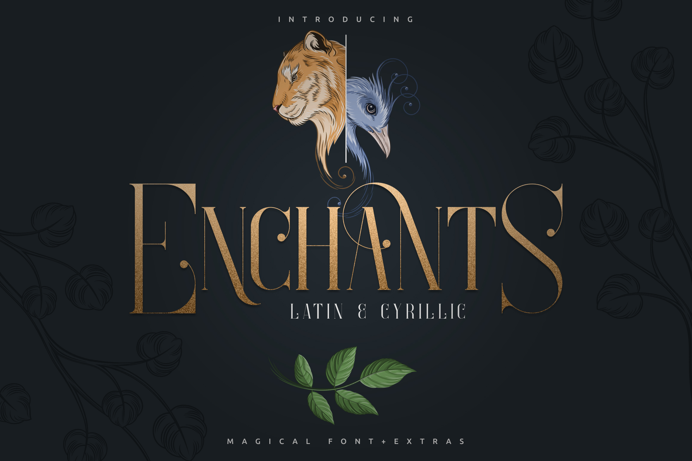 Enchants - Magical font - Extras example image 1