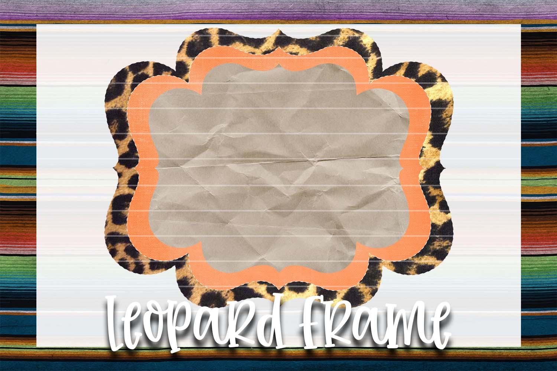 Orange & Leopard Frame Background Element example image 1