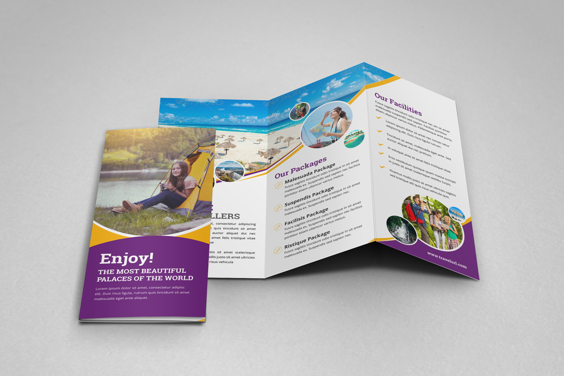 Holiday Travel Bifold & Trifold Brochure v2 example image 13