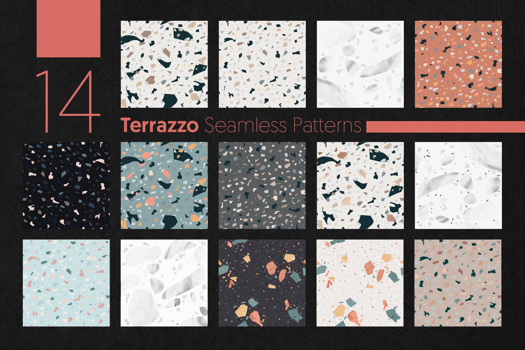 Terrazzo Seamless Patterns example image 4