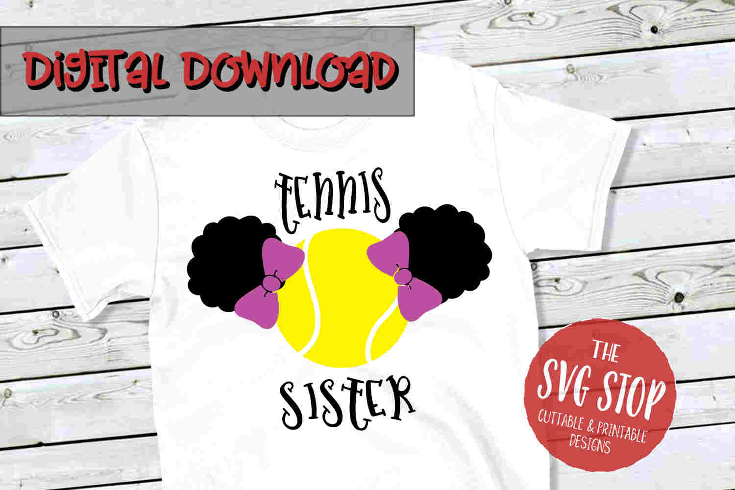 Tennis Sister SVG PNG DXF example image 1