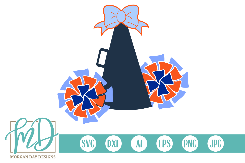 Cheerleader - Megaphone SVG, DXF, AI, EPS, PNG, JPEG example image 1