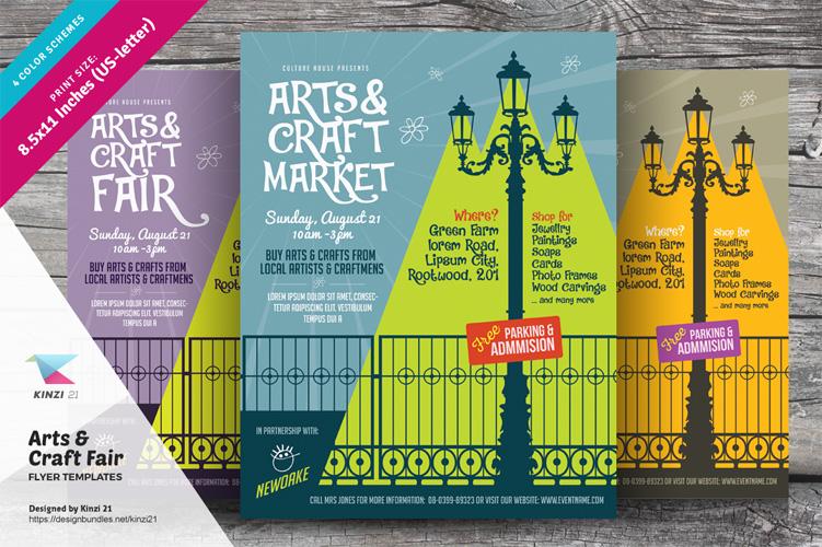 Arts & Craft Fair Flyer Templates example image 1