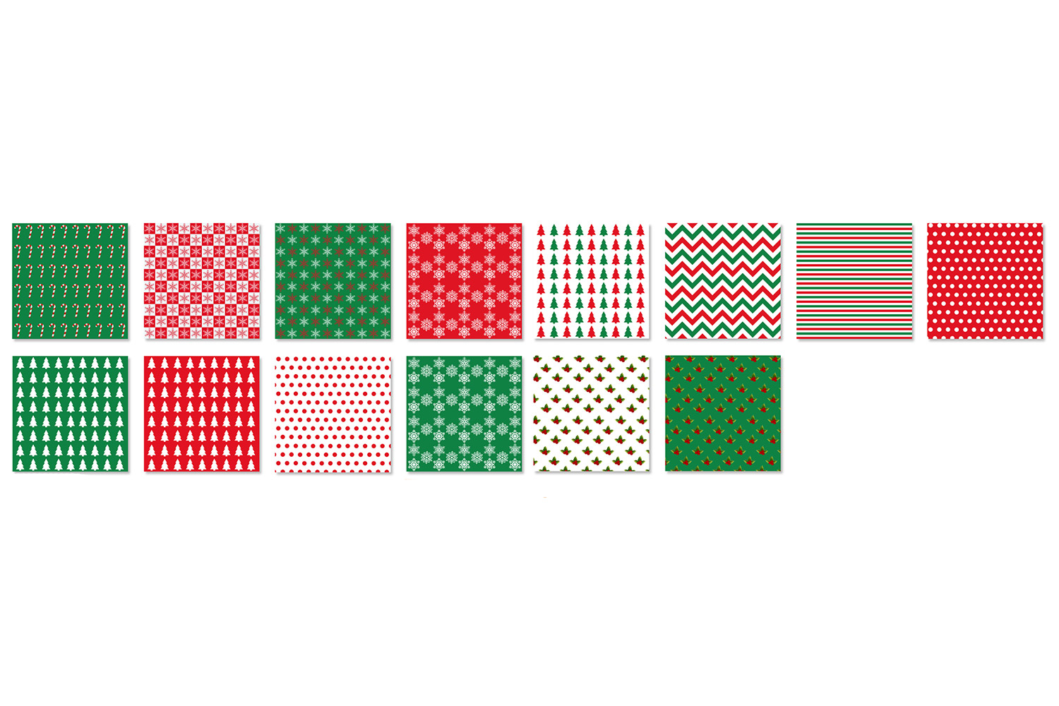Christmas & Holiday Backgrounds - Red and Green Patterns example image 2