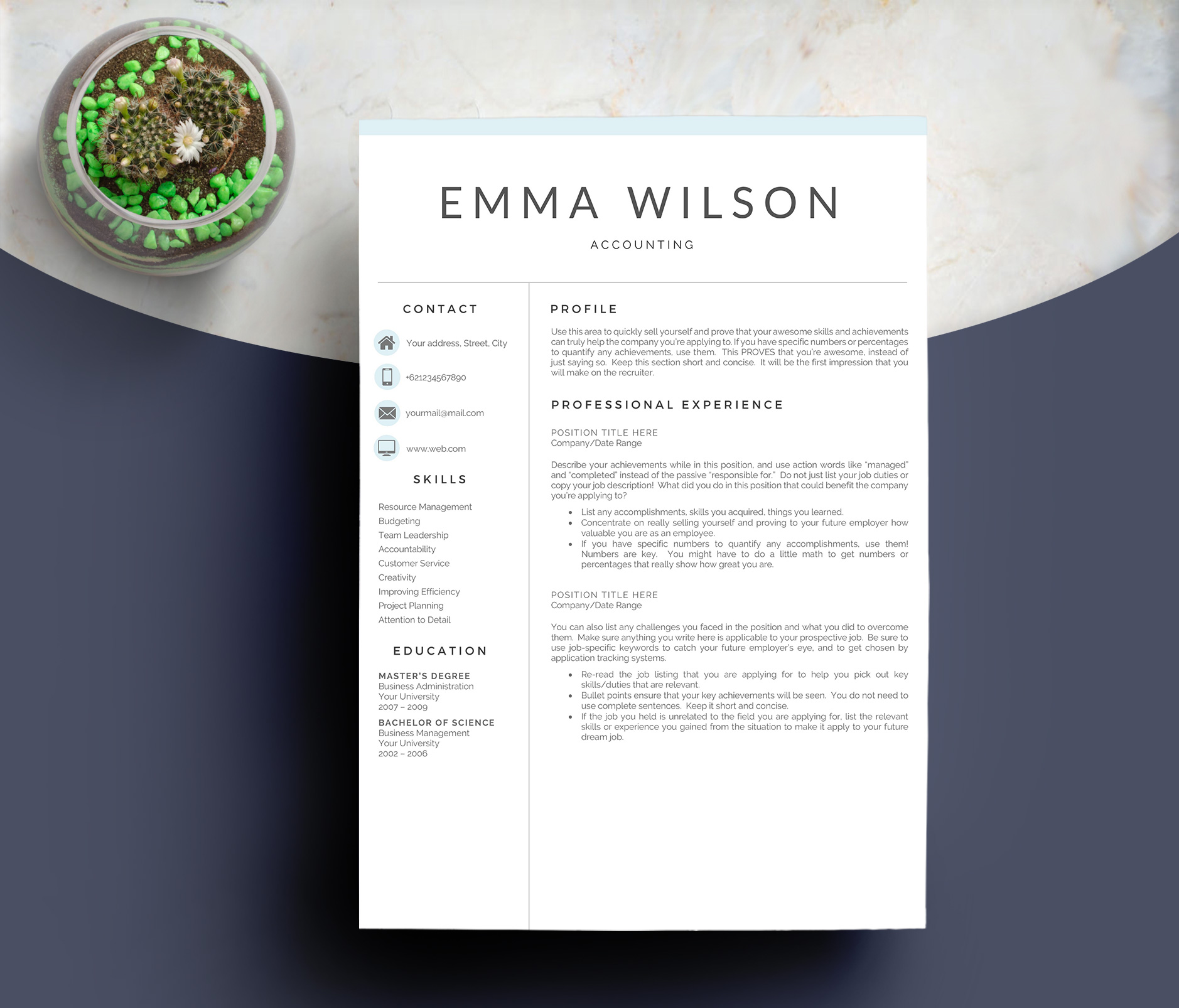 Resume Template 3 Pages example image 2