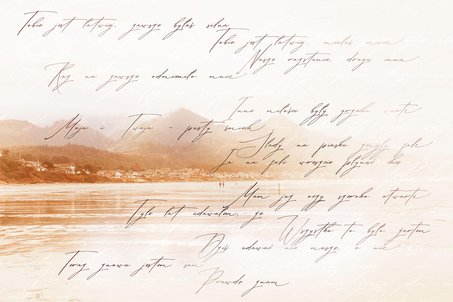 Buongiorno Rastellino script font example image 15