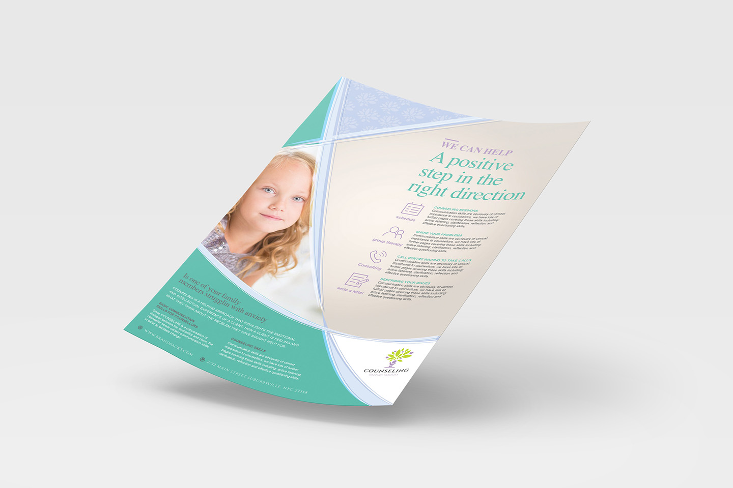A4 Counselling Service Advertisement Templates example image 4