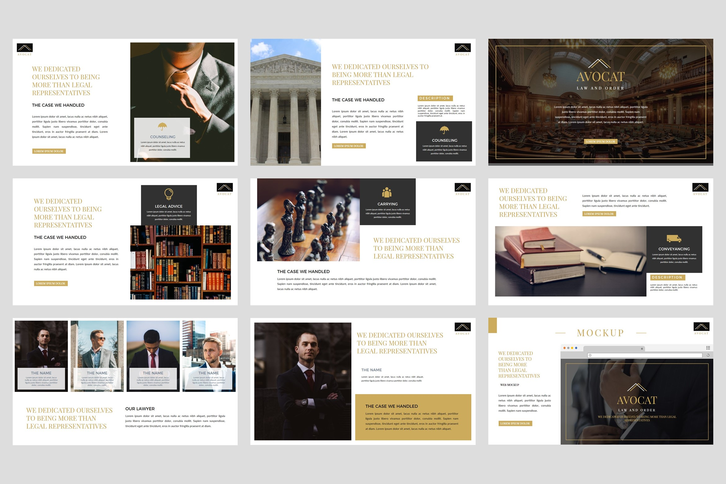 Avocat - Lawyer Google Slides Template example image 4