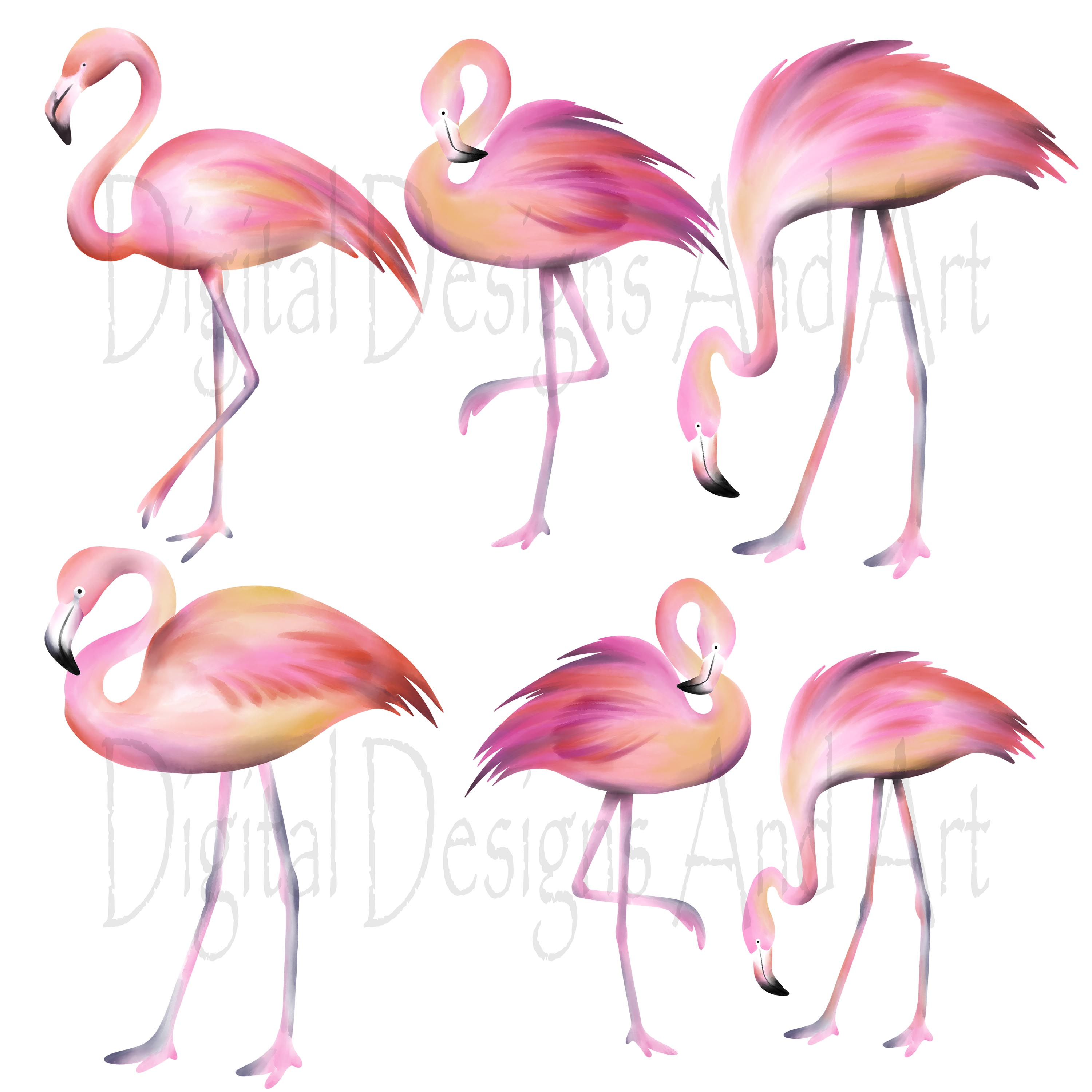 Pink flamingo clipart example image 3