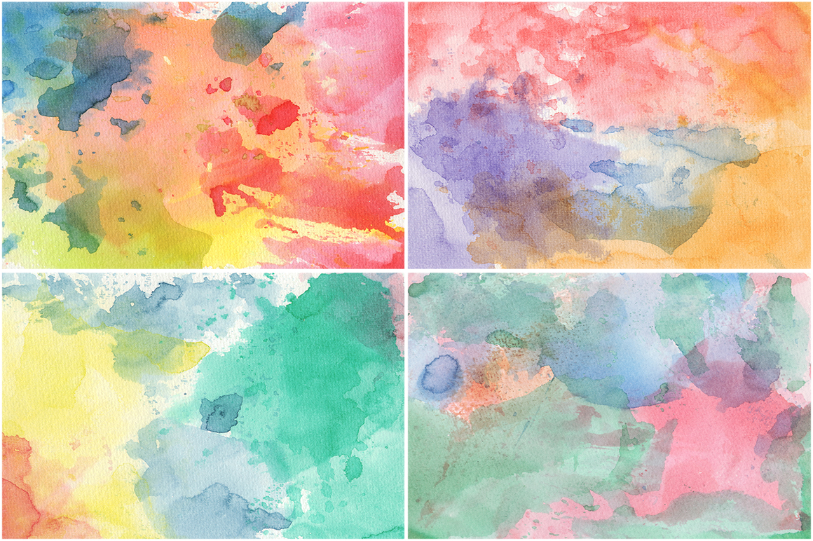 50 Watercolor Backgrounds 02 example image 13
