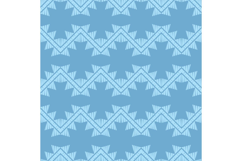 Ethnic boho ornament. Zigzag. Set of 10 seamless patterns. example image 8