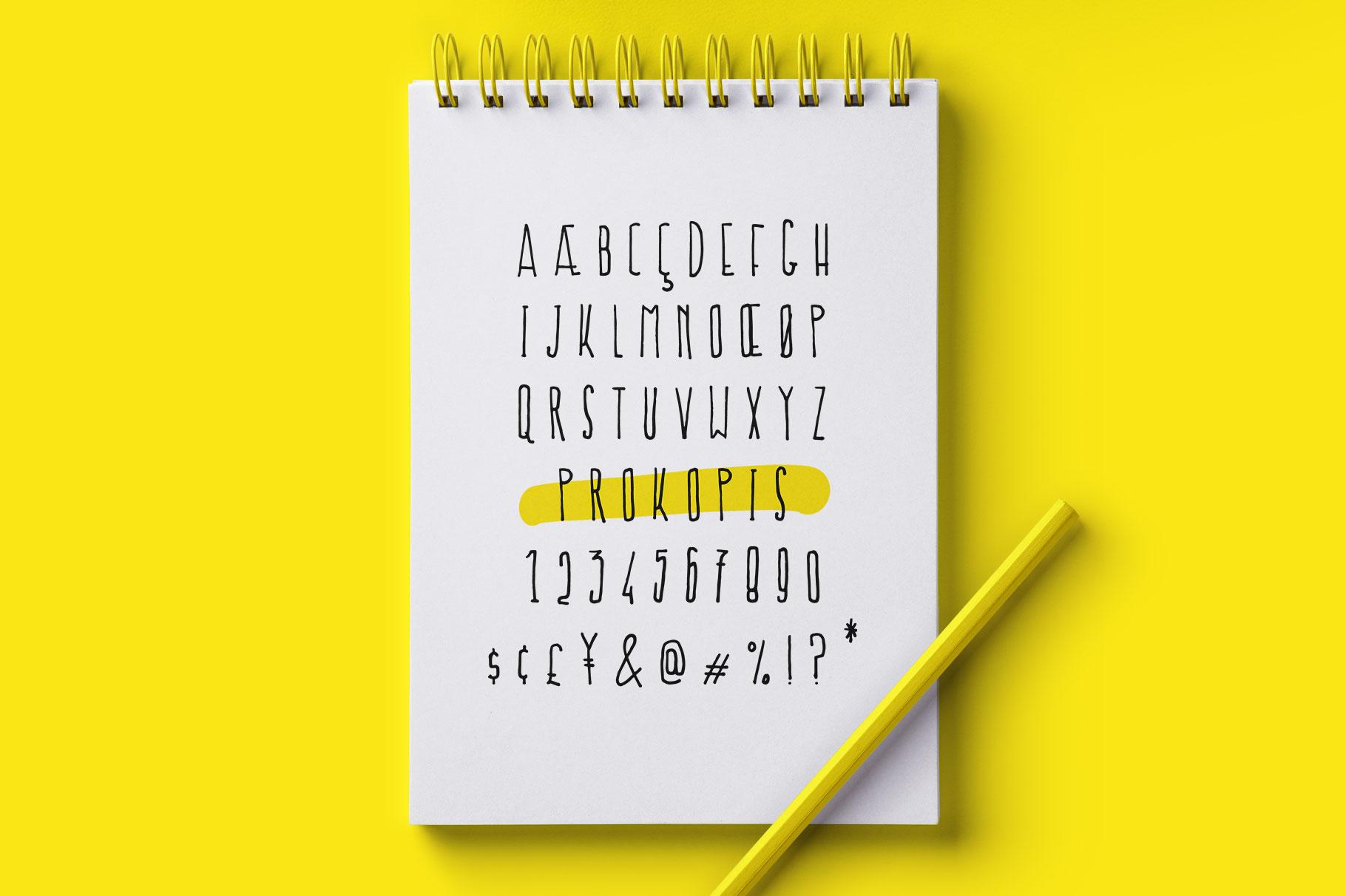 Prokopis font example image 3