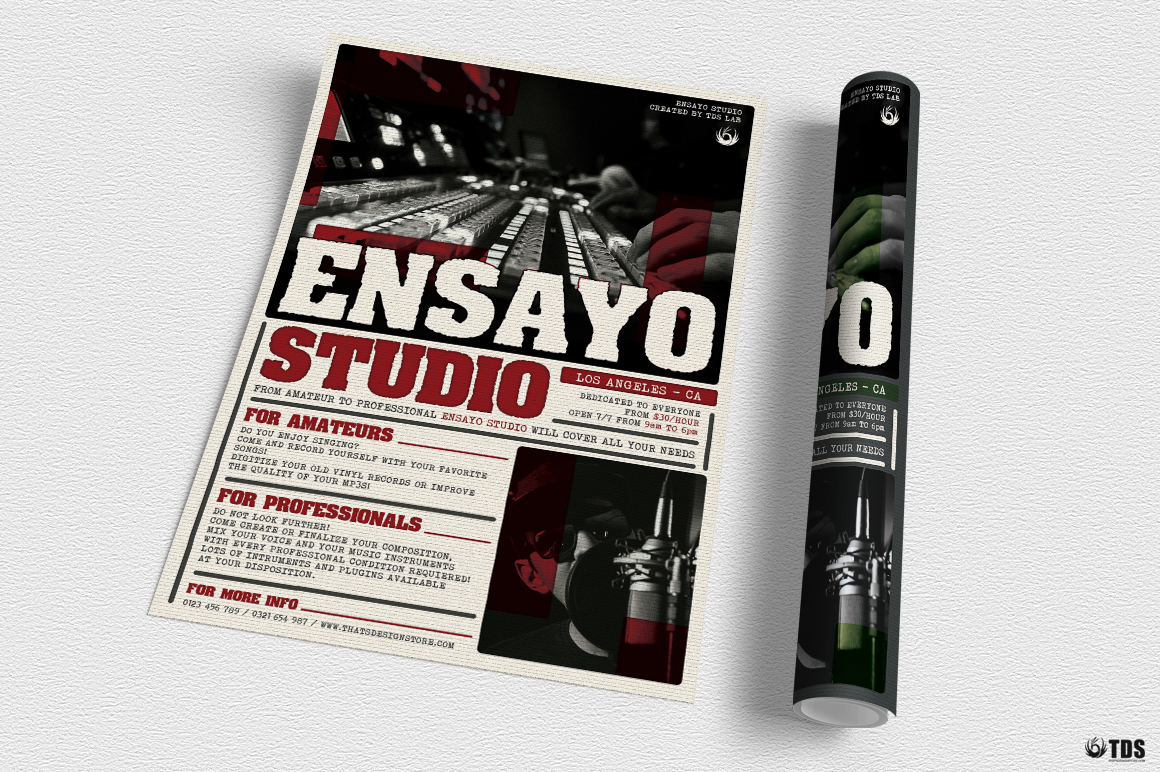 Music Studio Flyer Template example image 3